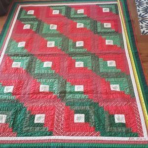 Christmas Vintage Handmade Quilt